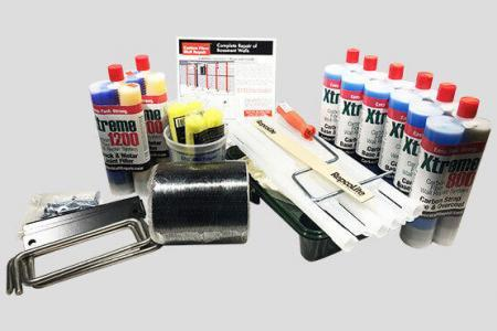 Complete Carbon Fiber Wall Repair Kit