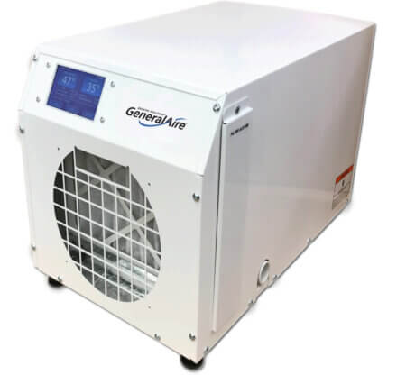 GeneralAire® DH100 Touch Screen & Wi-Fi Control Whole Home Dehumidifier (100 Pints)