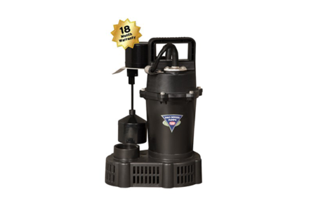 SR33-VS Cast Aluminum 1/3 HP Sump Pump | Prevent Flooding