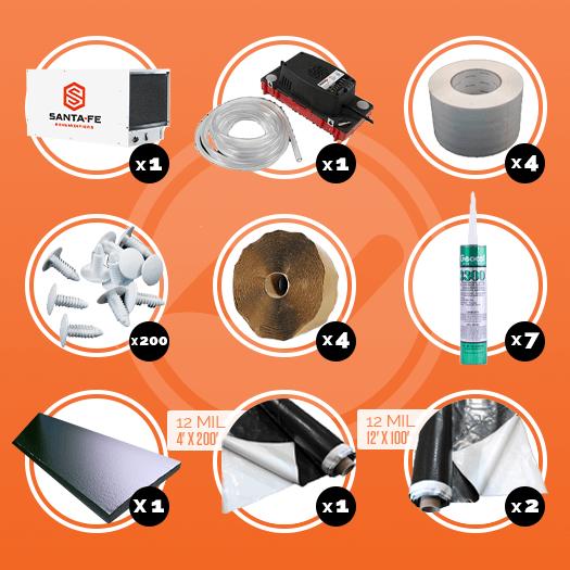 Encapsulation Kit | 1500 Sq.FT | Crawl Space DIY